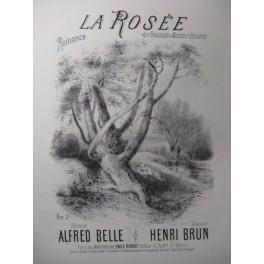BRUN Henri La Rosée Chant Piano XIXe