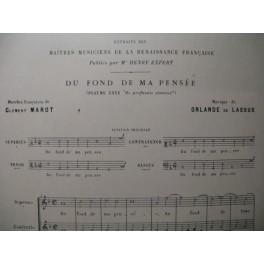 DE LASSUS Orlande Du Fond de ma Pensée Chant