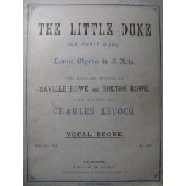 LECOCQ Charles The Little Duke Opera 1879