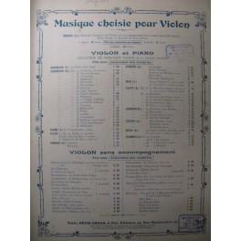 THUILLIER Edmond Songes dorés Violon Piano