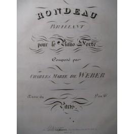 WEBER Rondeau Brillant Piano ca1835
