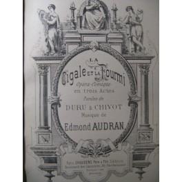 AUDRAN Edmond La Cigale et la Fourmi Opéra ca1890