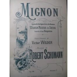 SCHUMANN Robert Mignon Opera 1878