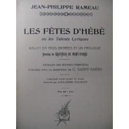 RAMEAU Jean-Philippe Les Fêtes d'Hébé Opera 1906