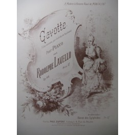 LAVELLO Rodolphe Gavotte Piano XIXe