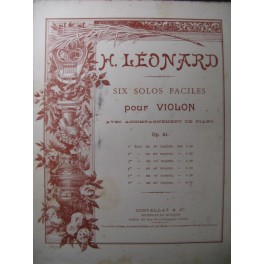 LÉONARD H. 1er Solo Violon Piano ca1898