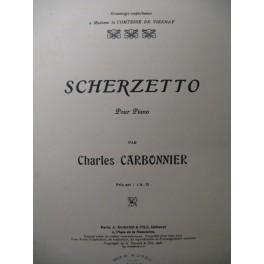 CARBONNIER Charles Scherzetto Piano 1908