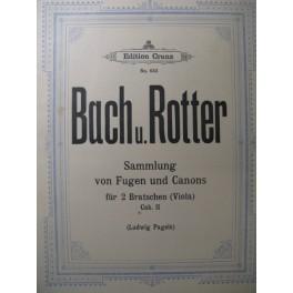 BACH & ROTTER Fugues et Canons vol 2 Alto