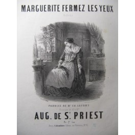 DE SAINT PRIEST Aug. Marguerite Chant Piano ca1850