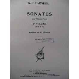 HAENDEL G. F. Sonates Violon Piano