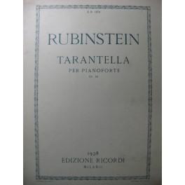 RUBINSTEIN Nicola Tarentella Piano