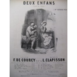 CLAPISSON L. Deux Enfans Chant Piano ca1850