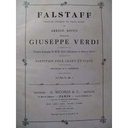 VERDI Giuseppe Falstaff Opera 1894