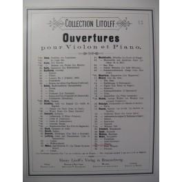 WEBER Obéron Ouverture Violon Piano