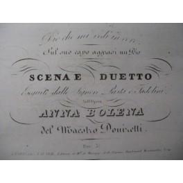 DONIZETTI G. Anna Bolena n° 12 Chant Piano ca1830