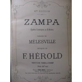 HEROLD Ferdinand Zampa Opéra 1884