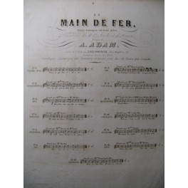 ADAM Adolphe La Main de Fer Romance Chant Piano ca1843