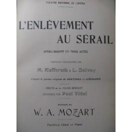 MOZART W. A. L'Enlèvement au Sérail Opera 1903