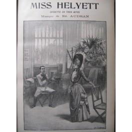 AUDRAN Edmond Miss Helyett Opera ca1890