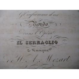 MOZART W. A. Il Serraglio Rondo Chant Piano ca1840