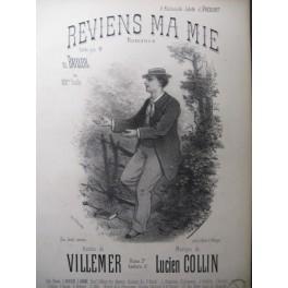 COLLIN Lucien Reviens ma Mie Chant Piano XIXe