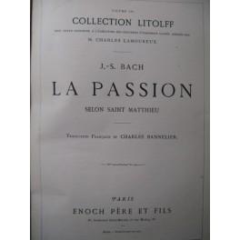 BACH J. S. La Passion selon Saint Matthieu Chant Piano 1874