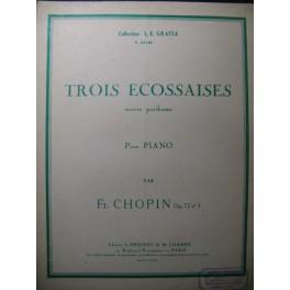 CHOPIN Frédéric Trois écossaises Piano 1949