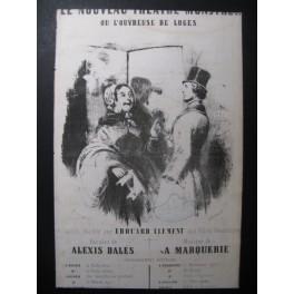 MARQUERIE A. Le Théâtre Monstre Chant Guitare ca1830