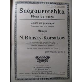 RIMSKY-KORSAKOW Snégourotchka Opera 1908