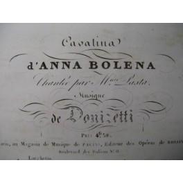 DONIZETTI G. Anna Bolena Cavatina Chant Piano ca1830