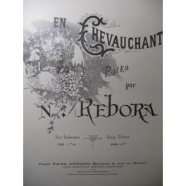 REBORA N. En Chevauchant Piano