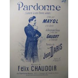 CHAUDOIR Félix Pardonne Chant Piano XIXe