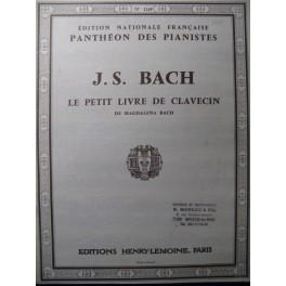 BACH J. S. Le Petit Livre de Clavecin Piano