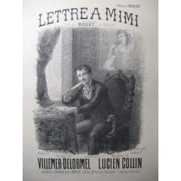 COLLIN Lucien Lettre à Mimi Chant Piano XIXe