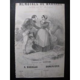 DOMINIQUE Mémoires de Barnabé Chant Guitare ca1830