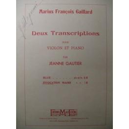 GAILLARD Invocation Maori Violon Piano 1933