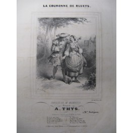 THYS A. La Couronne de Bluets Chant Piano ca1830