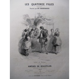 DE BEAUPLAN Amédée Les 14 Filles Chant Piano ca1830