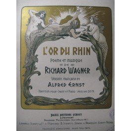 WAGNER Richard L'Or du Rhin Opéra 1898