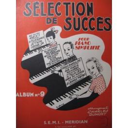 Selection de Succès n° 9 pour Piano 1956