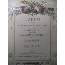 MASSENET Jules Sapho Opera 1897