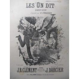 DARCIER J. Les On Dit Chant Piano XIXe