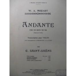 MOZART W. A. Andante Concerto Violon Orchestre 1906