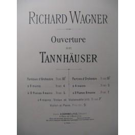 WAGNER Richard Tannhäuser Ouverture Violon Piano 1897
