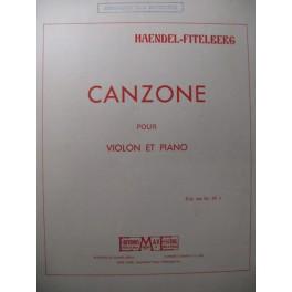 HAENDEL G. F. Canzone Violon Piano