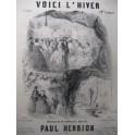 HENRION Paul Voici l'Hiver Chant Piano 1856
