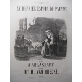 VAN HOECKE H. Le Dernier Espoir du Pauvre Chant Piano XIXe