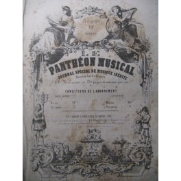 Le Panthéon Musical Journal Piano Chant Aout 1854