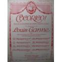 GANNE Louis Cocorico No 6 Chant Piano 1914