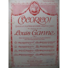 GANNE Louis Cocorico n° 6 Chant Piano 1914